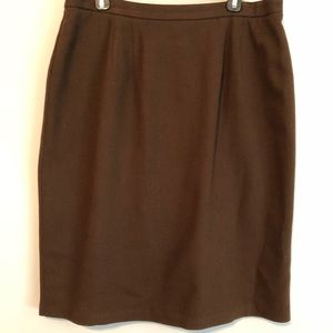 Worthington Brown Wool lined Straight Skirt